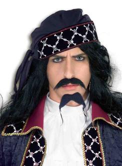 Fun Pirate Beard and Moustache Set