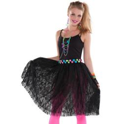 80s Lace Black Skirt