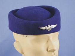 Blue Flight Attendant Hat