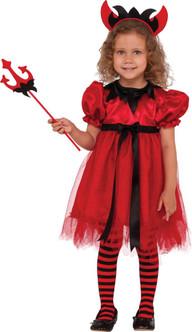Girls Pretty Devilish Costume