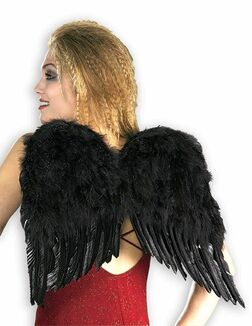 Deluxe Black Feather Angel Wings