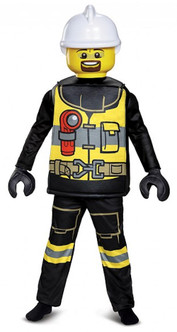 Lego Firefighter Deluxe Kids Costume