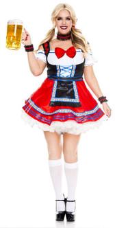 Oktoberfest Beer Babe Costume - Plus Size