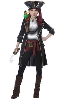 Girls High Seas Captain Pirate Costume