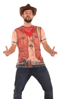 Mens Faux Real Sexy Cowboy
