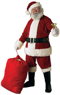 Deluxe Ultra Velvet Santa Suit - XXL Size
