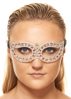 Premium Metal Mask with Clear Crystals