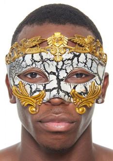 Vintage Gold Gladiator Masquerade Mask