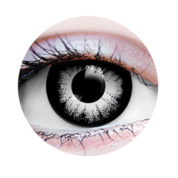 Mystique Black And White Coloured Contact Lenses