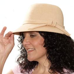 20s Beige Flapper Hat