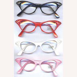 50s Librarian Clear Glasses - 4 Colours!