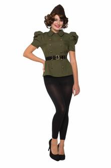 40s Green Army Female Shirt