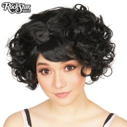Rockstar Curly Bob Black Wig