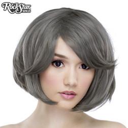 Rockstar Hologram Bob Grey Pewter Wig