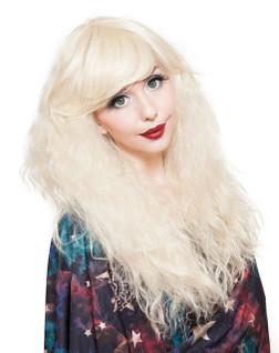 Rockstar Crimped Cosplay Blonde Wig