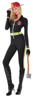 Ladies Fired Up Firefighter Costume