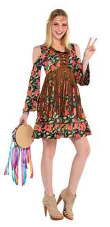 Ladies Flower Power Hippie Costume