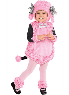 Toddler's Pink Poodle Pup Costume