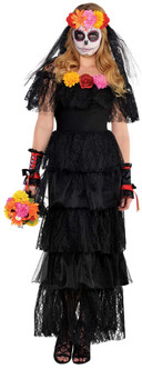 Ladies Day of The Dead Dress Western Costume