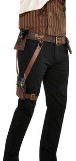 Leather-like Steampunk Belt Holster With Leg Pocket