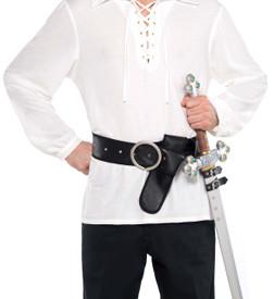 Leather-like Black Sword Holster Belt