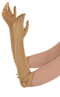 Ladies Long Evening Opera Champagne Gloves