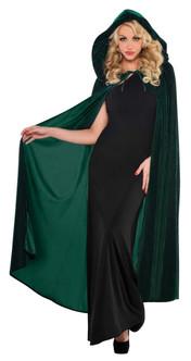 Green Full Length Hooded Renaissance Cape