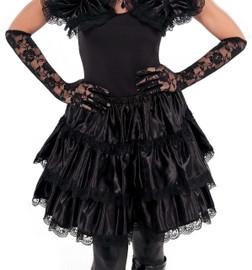 Gothic Black Ruffled Skirt