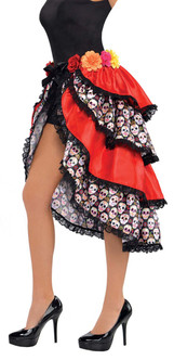 Ladies Sugar Skull Day Of The Dead Bustle