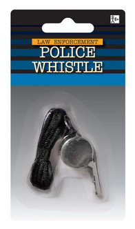 Silver Police Whistle Prop