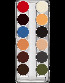 Kryolan Professional Grease Paint 12 B Palette