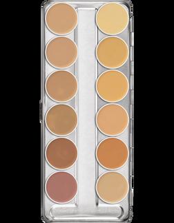 Kryolan Professional Dermacolor Concealer Palette 12 LT/MD A