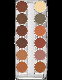 Kryolan Professional Dermacolor B Dark 12 Concealer Palette