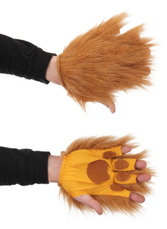 Lion Fingerless Gloves Costume Accessory