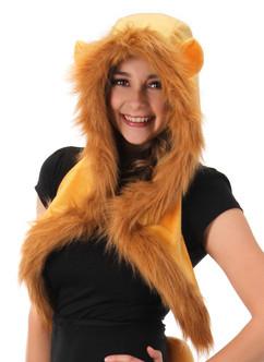 Plush Lion Hood Costume Accessory