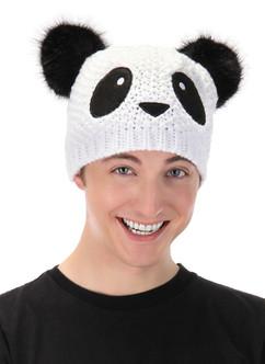 Panda Knit Beanie Costume Accessory