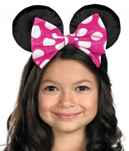 Minnie Mouse Ears Headband With Reversible Bow!