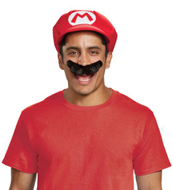 Adult Mario Hat and Mustache Kit
