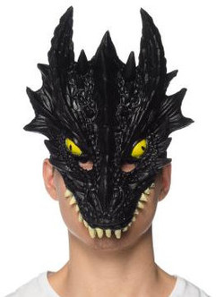 Supersoft Fearsome Dragon Mask - Black
