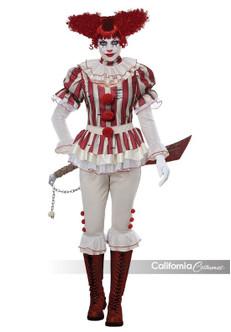Womens Sadistic Horror Killer Clown Costume