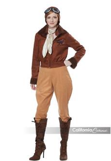 Womens Amelia Earhart Inspired Aviator Costume