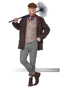 Chimney Sweep 2018 Mary Poppins Movie Plus-Size Costume