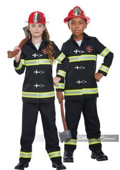 Kids Junior Fire Chief Uniform Costume