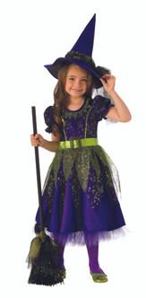 Girls Dark Blue Twilight Witch Costume