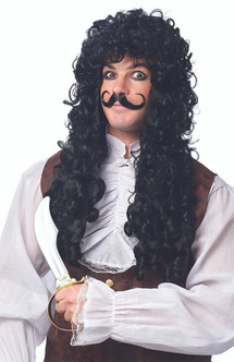 Peter Pan Captain Hook Tight Curly Wig