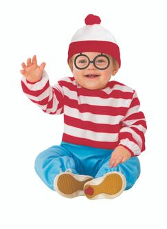 Toddlers Where's Waldo Romper Costume