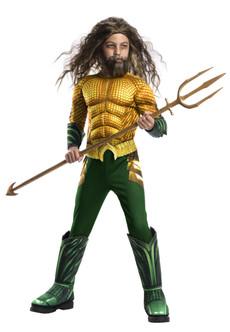 Kids Aquaman Muscle Chest Costume