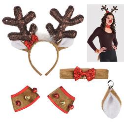 Sequin Holiday Plush Reindeer Kit