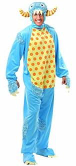 Adult Mini Blue Monster Onesie Costume