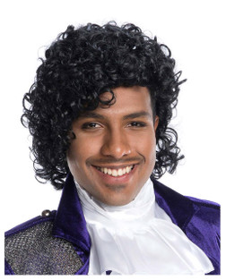 The Prince Curly Rock Star Costume Wig